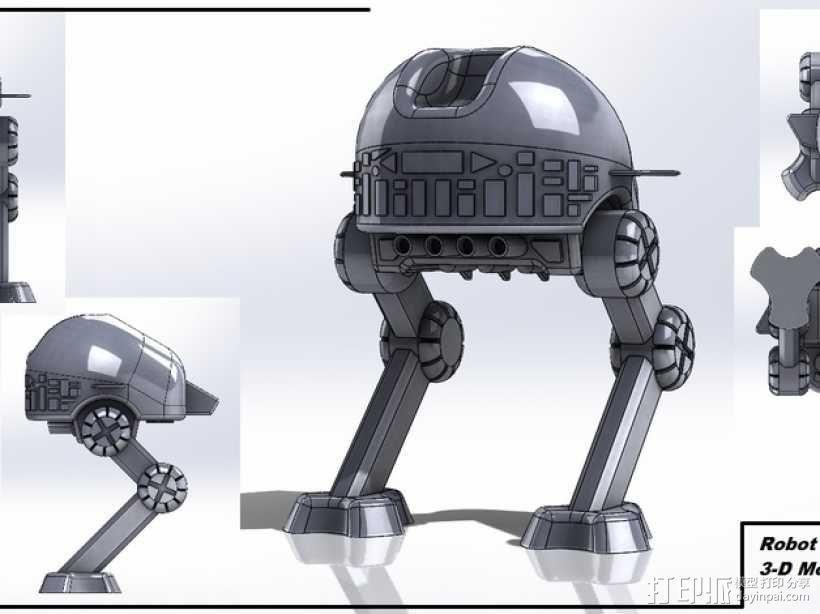 步行机器人 3D模型  图1