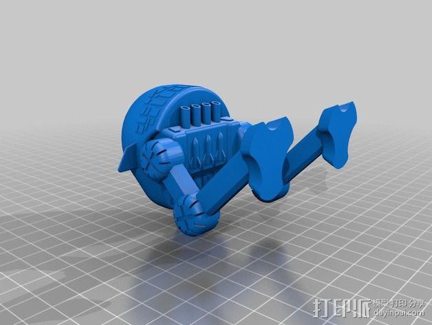 步行机器人 3D模型  图2