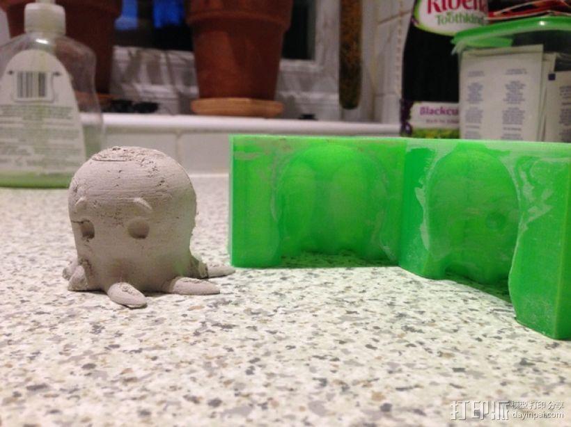 问好的章鱼模具 3D模型  图1