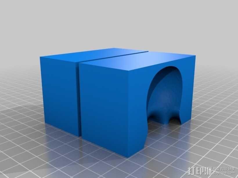 问好的章鱼模具 3D模型  图2