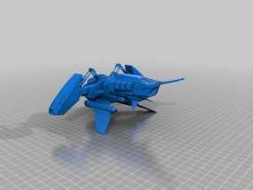 Betty号战斗机  3D模型