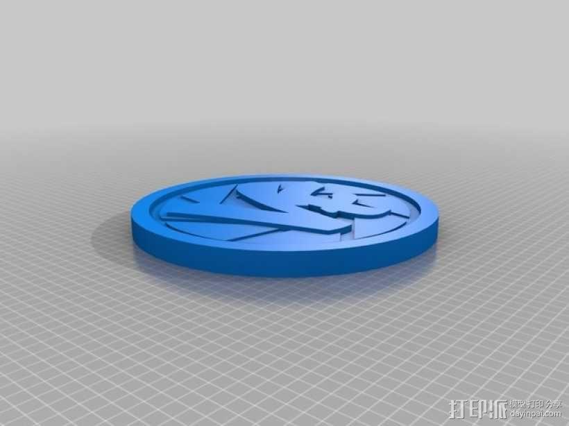 Vlogger交易会硬币徽章 3D模型  图1