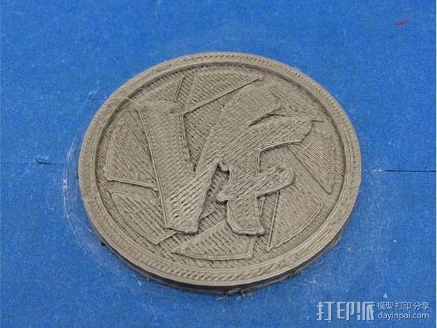 Vlogger交易会硬币徽章 3D模型  图2