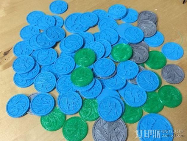 Vlogger交易会硬币徽章 3D模型  图5