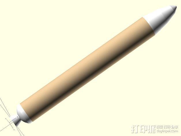 Estes MX导弹 3D模型  图12
