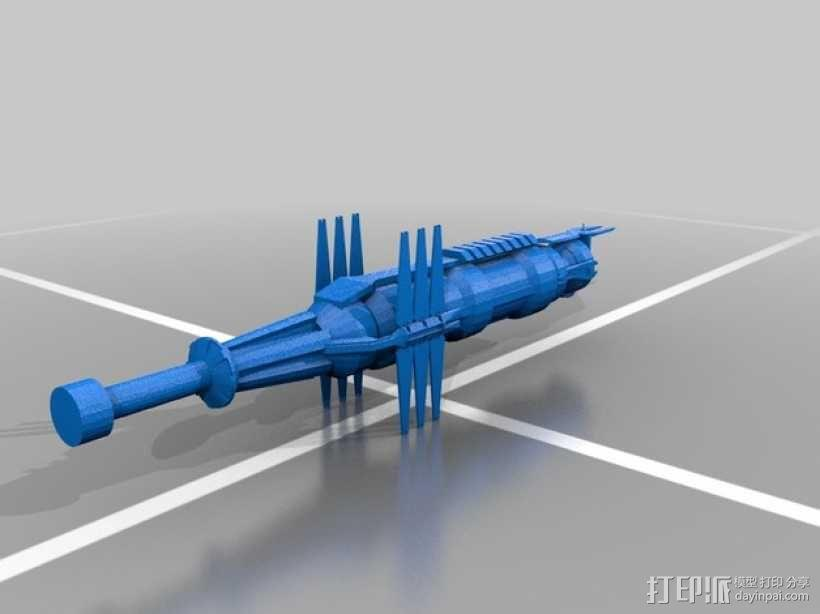 Babylon 5星际船 3D模型  图1