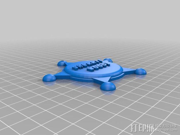 州长徽章  3D模型  图3