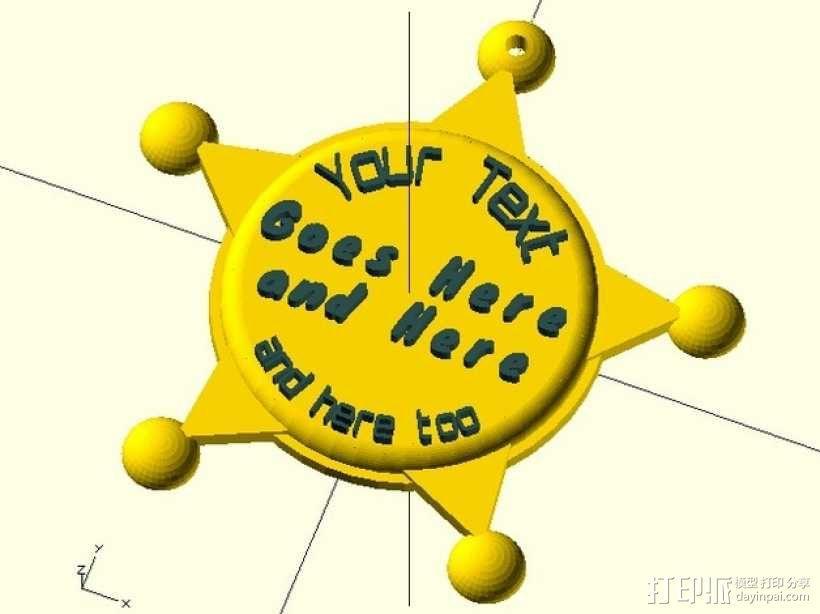 州长徽章  3D模型  图1
