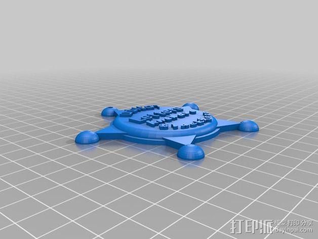 州长徽章  3D模型  图7