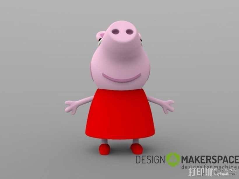 粉红小猪妹 3D模型  图3