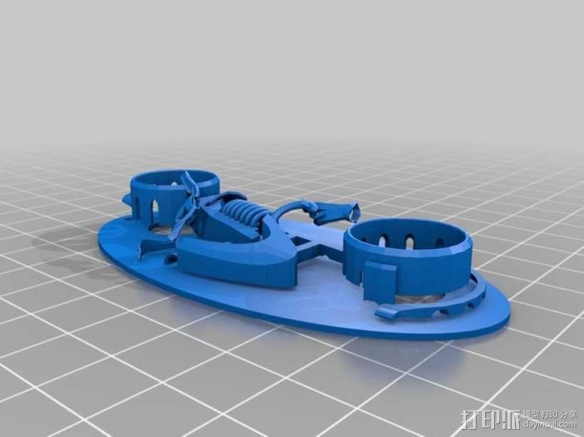 炫光摩托车钥匙扣 3D模型  图2