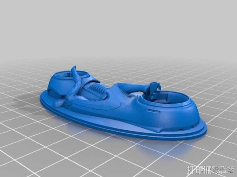 炫光摩托车钥匙扣 3D模型  图3