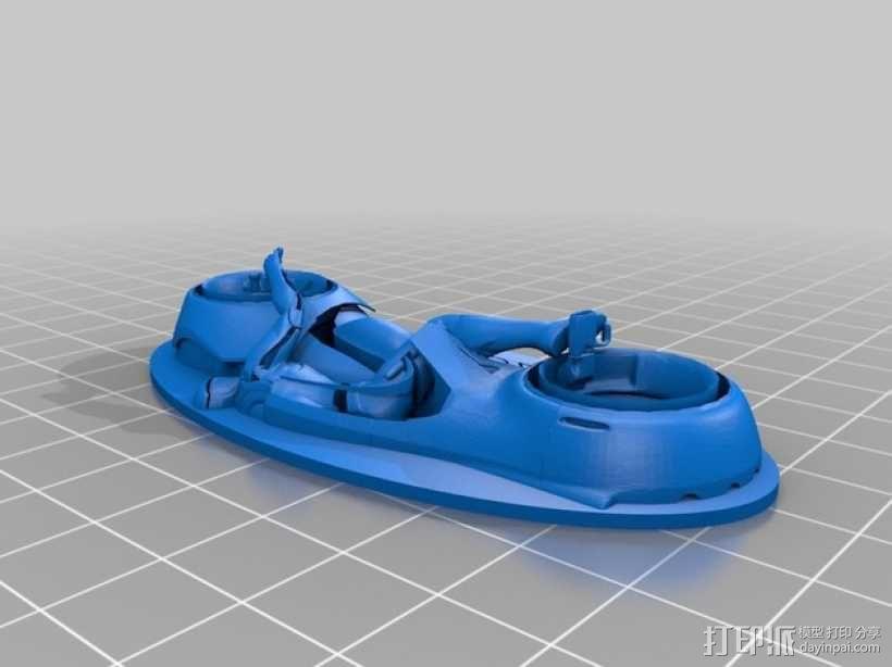 炫光摩托车钥匙扣 3D模型  图4