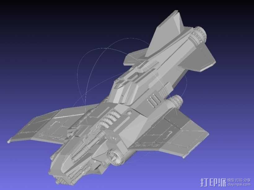 Thunder Lightning喷气式飞机 3D模型  图1