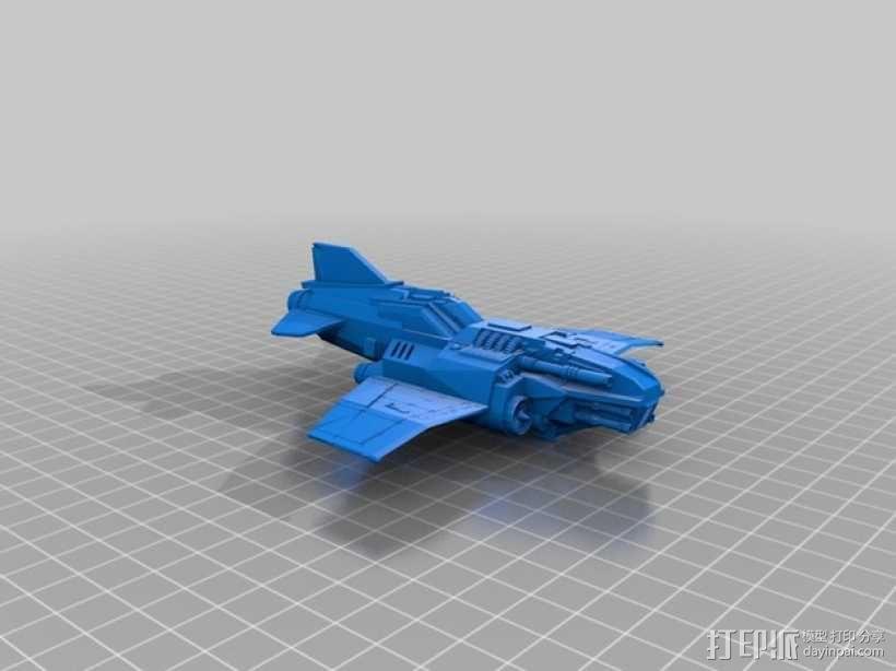 Thunder Lightning喷气式飞机 3D模型  图5