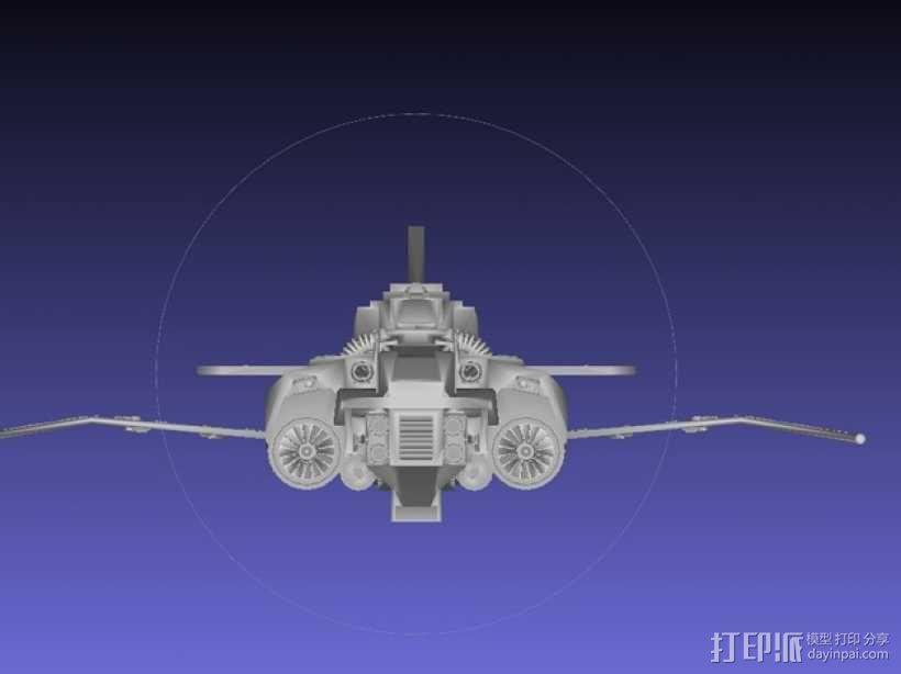 Thunder Lightning喷气式飞机 3D模型  图6