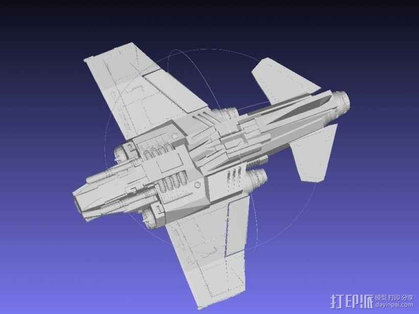 Thunder Lightning喷气式飞机 3D模型  图8