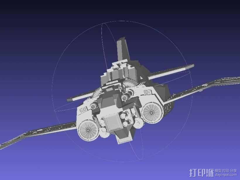 Thunder Lightning喷气式飞机 3D模型  图9