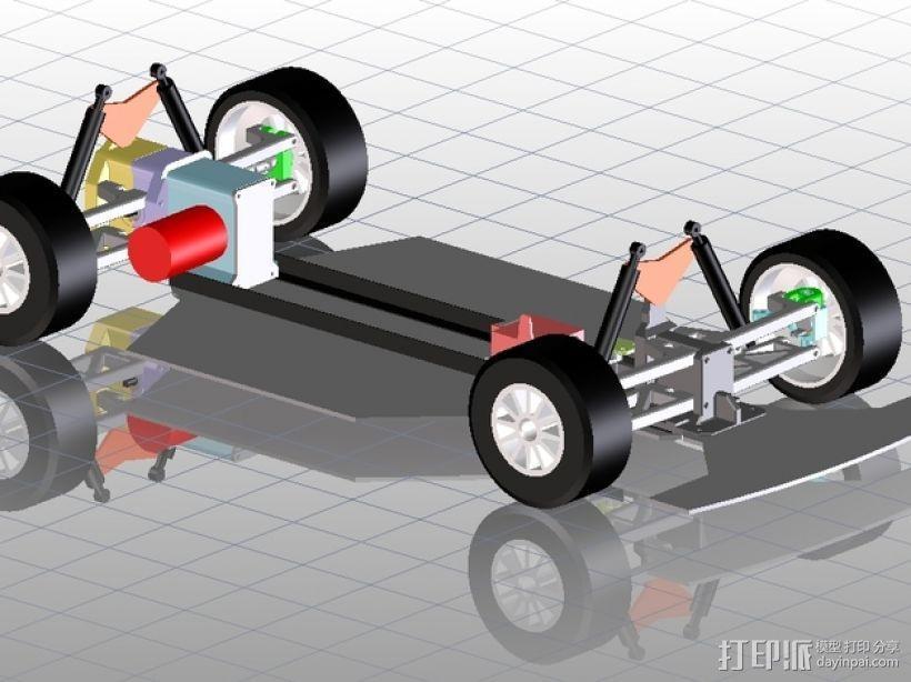 遥控车底盘 3D模型  图1
