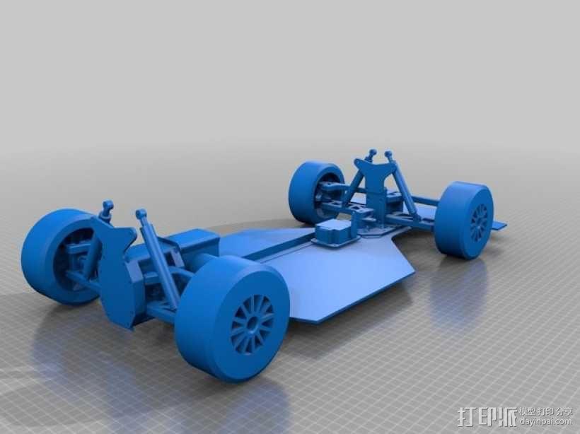 遥控车底盘 3D模型  图2