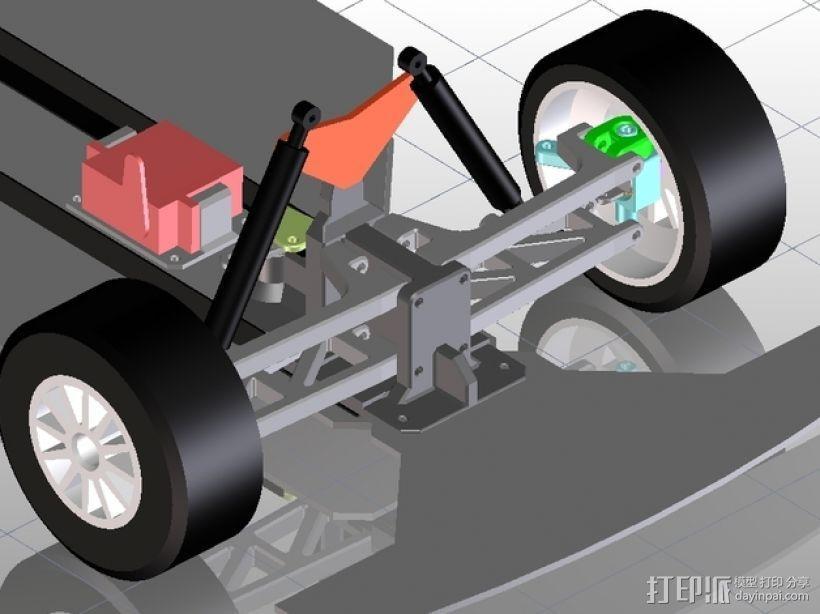 遥控车底盘 3D模型  图4
