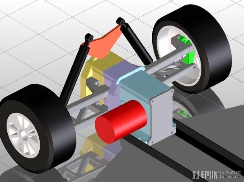 遥控车底盘 3D模型  图5