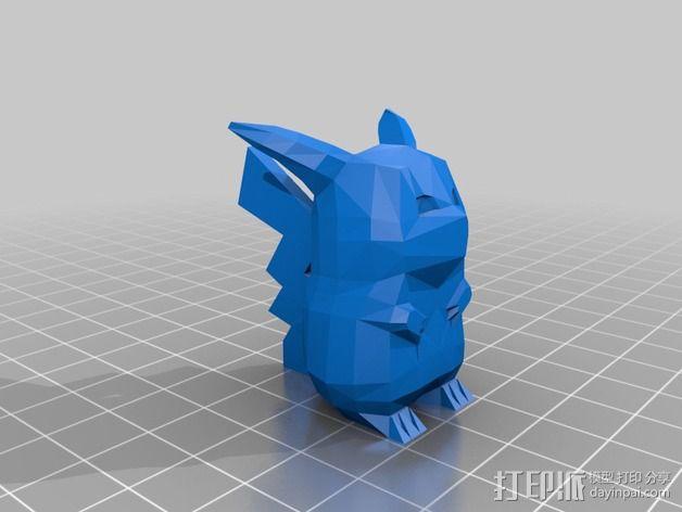 低面数皮卡丘模型 3D模型  图2