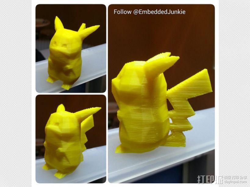 低面数皮卡丘模型 3D模型  图1