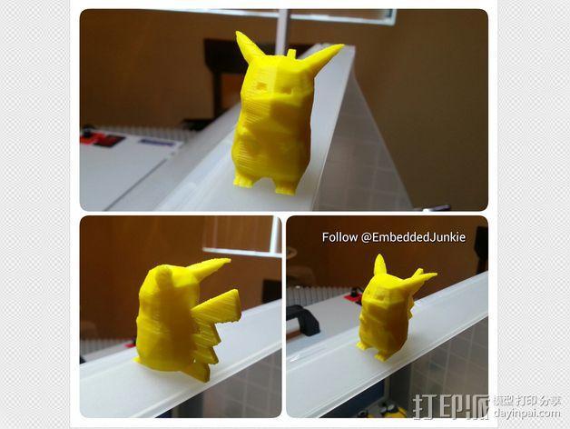 低面数皮卡丘模型 3D模型  图4
