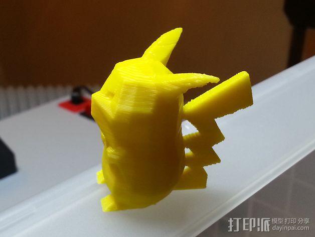 低面数皮卡丘模型 3D模型  图5
