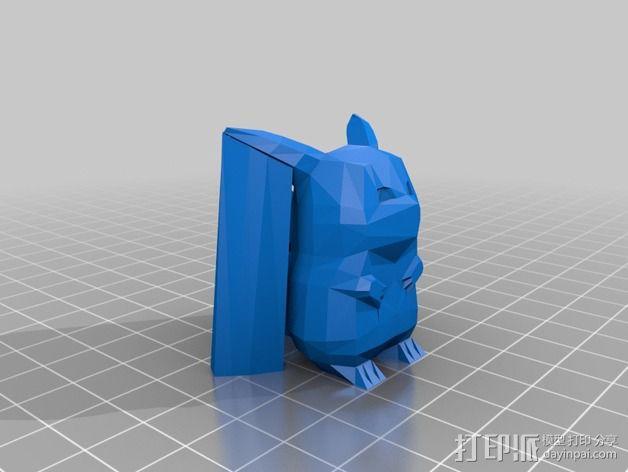 低面数皮卡丘模型 3D模型  图3