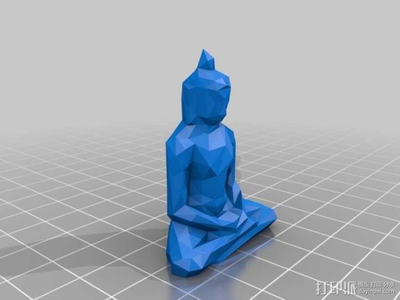低面数菩萨雕塑 3D模型  图2