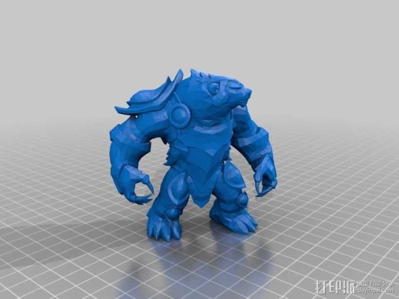 弗里贝尔熊 3D模型  图1
