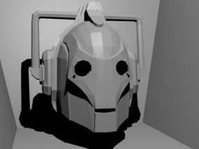 赛博人头像  3D模型