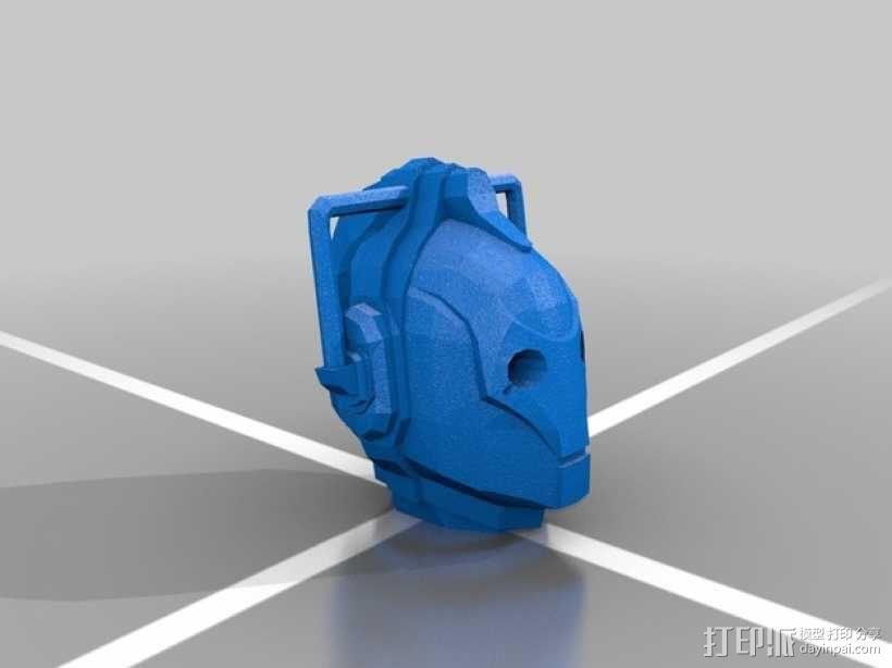 赛博人头像  3D模型  图2
