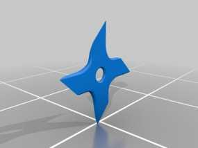 四角星飞镖 3D模型