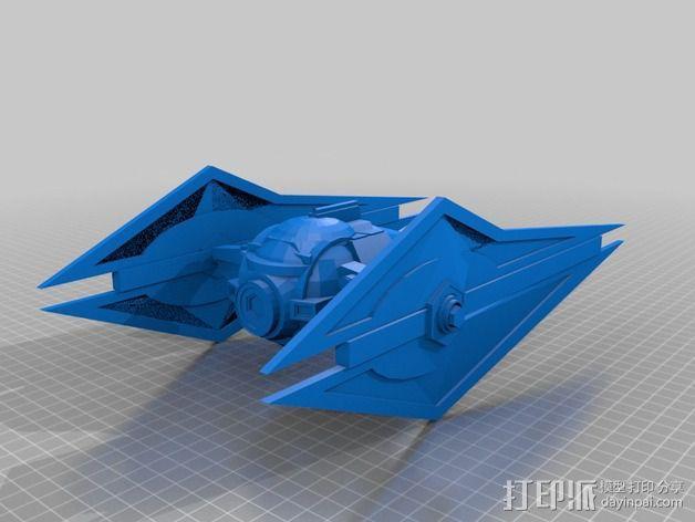 星际之战钛战机 3D模型  图1