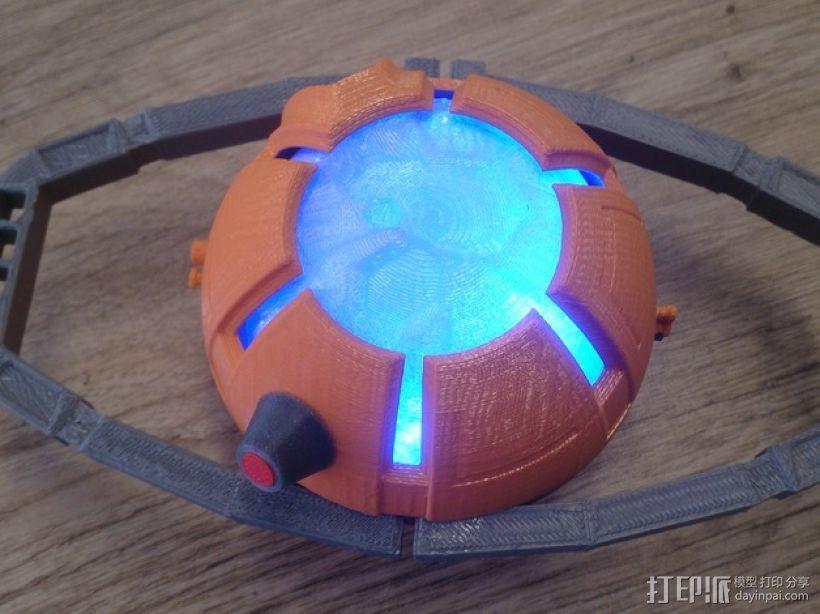 变形金刚汽车人车灯 3D模型  图1