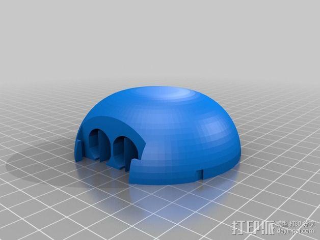 变形金刚汽车人车灯 3D模型  图7