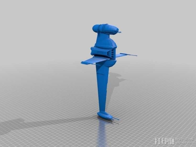 星球大战B翼战斗机 3D模型  图1