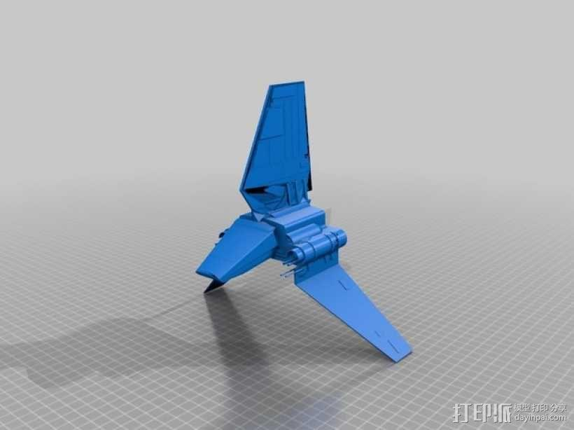 Lambda-class T-4a运输机 3D模型  图1