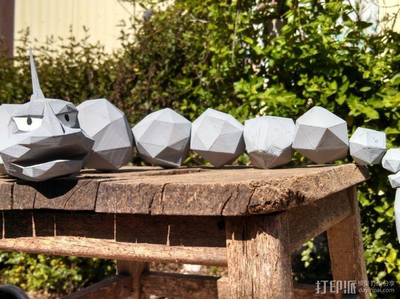 口袋妖怪大岩蛇 3D模型  图1