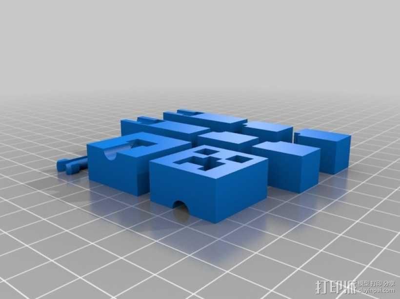 我的世界爬行者模型 3D模型  图1