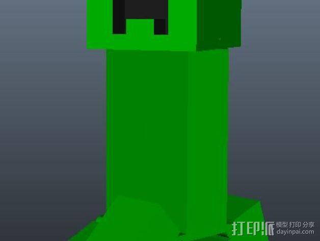 我的世界爬行者模型 3D模型  图3