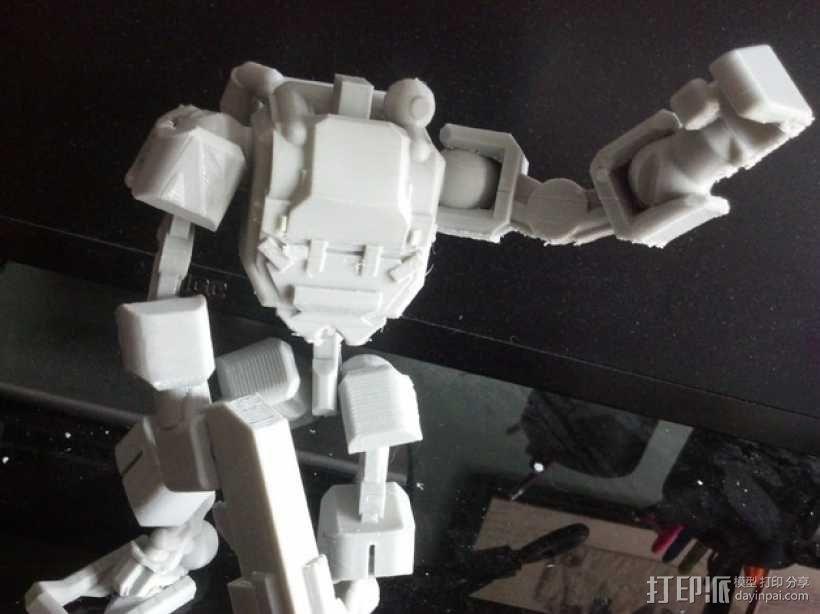 步行者机器人 3D模型  图1