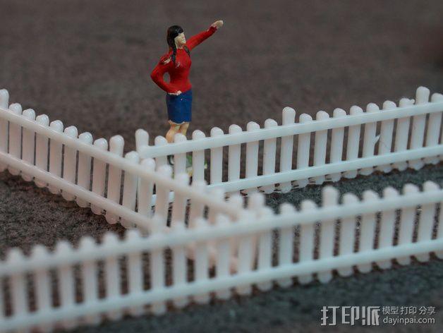 栅栏 篱笆 3D模型  图2