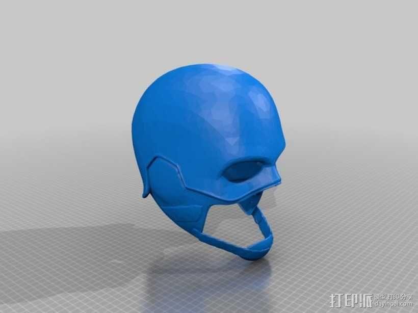 美国队长头盔 3D模型  图1