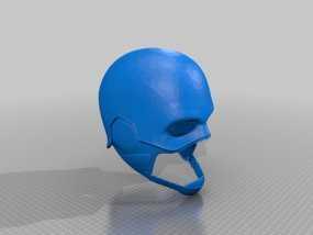 美国队长头盔 3D模型
