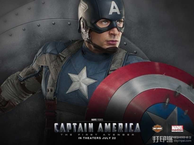 美国队长头盔 3D模型  图2