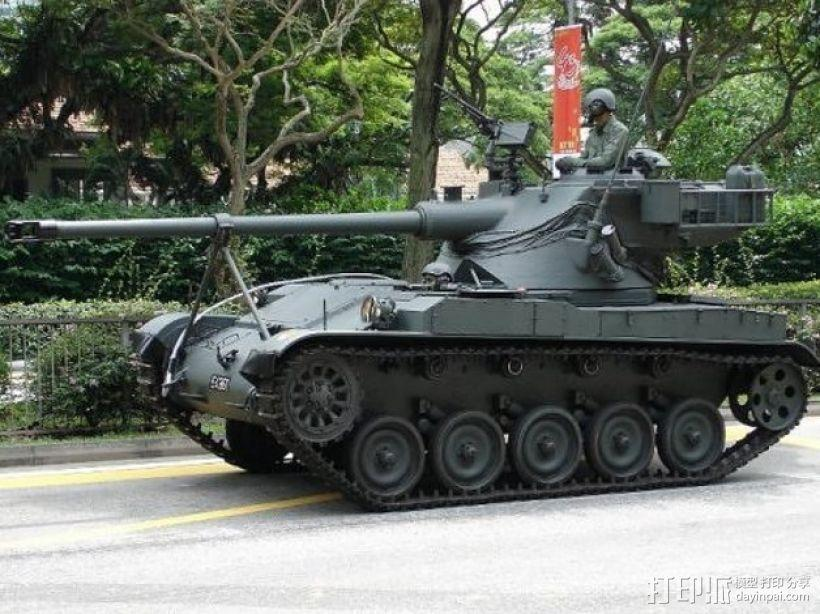 AMX 13 90坦克 3D模型  图4